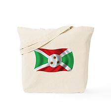 Wavy Burundi Flag Tote Bag