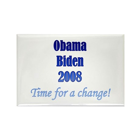 Obama Biden Time for Change Rectangle Magnet