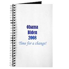 Obama Biden Time for Change Journal