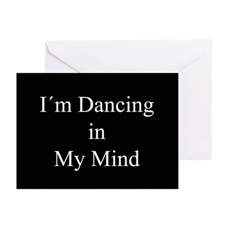 Dancing In My Mind bw Greeting Cards (Pk of 20)