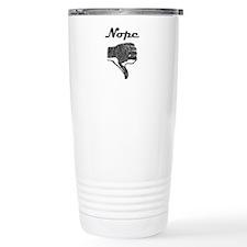 'Nope' Travel Coffee Mug