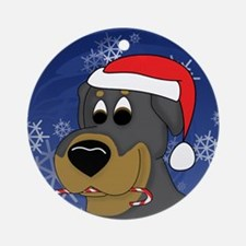 Candy Cane Rottweiler Christmas Ornament