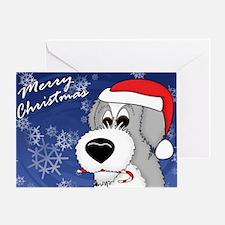 Candy Old English Sheepdog Christmas Card (Single)
