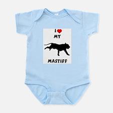 Heart My Mastiff Infant Creeper