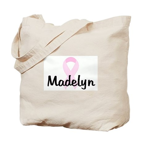Madelyn pink ribbon Tote Bag