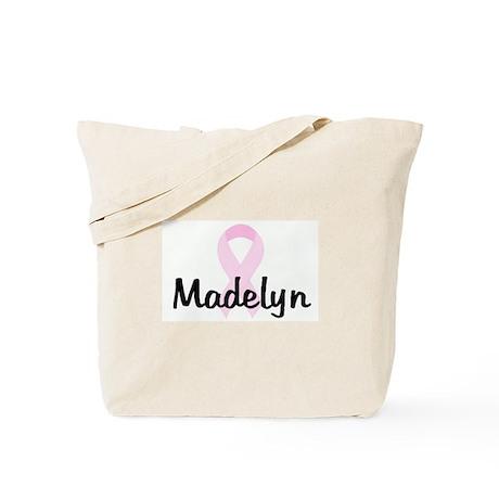 Madelyn pink ribbon Tote Bag
