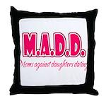 M.A.D.D. Throw Pillow