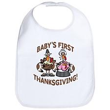 BABY GIRL'S FIRST THANKSGIVING Bib