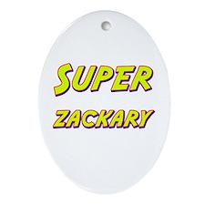 Super zackary Oval Ornament