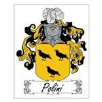 Polini Family Crest Small Poster