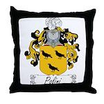 Polini Family Crest Throw Pillow