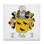 Polini Family Crest Tile Coaster