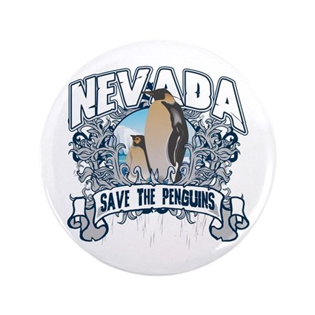 """Save the Penguins Nevada 3.5"""" Button"""