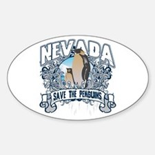 Save the Penguins Nevada Oval Decal