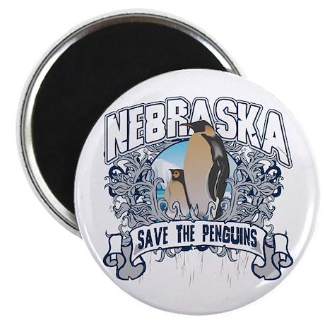 Save the Penguins Nebraska Magnet
