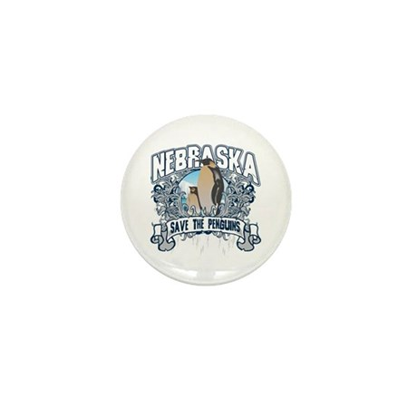 Save the Penguins Nebraska Mini Button