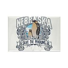 Save the Penguins Nebraska Rectangle Magnet (100 p