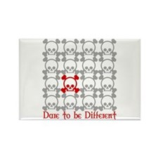 Dare to be Different - red Rectangle Magnet