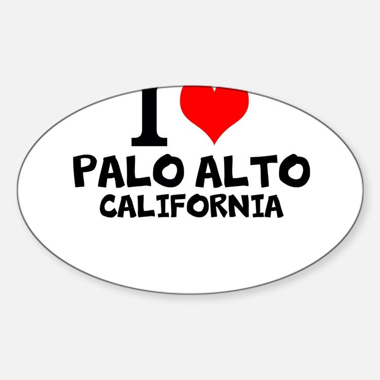 I Love Palo Alto, California Decal