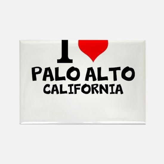 I Love Palo Alto, California Magnets