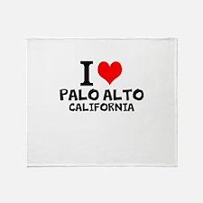 I Love Palo Alto, California Throw Blanket