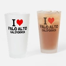 I Love Palo Alto, California Drinking Glass