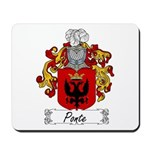 Ponte Family Crest Mousepad