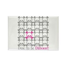 Dare to be Different - Pink Rectangle Magnet