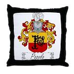 Popolo Family Crest Throw Pillow