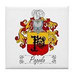 Popolo Family Crest Tile Coaster