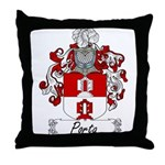 Porta Family Crest Throw Pillow