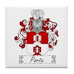 Porta Family Crest Tile Coaster