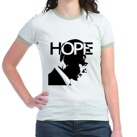 HOPE Obama Jr. Ringer T-Shirt