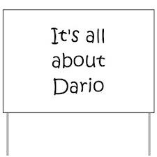 Funny Dario Yard Sign