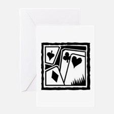 SUITS B/W poker Greeting Card
