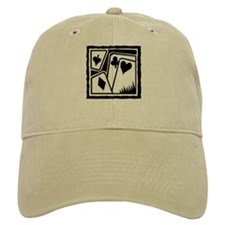 SUITS B/W Poker Baseball Cap