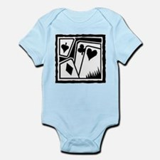 SUITS B/W Infant Bodysuit