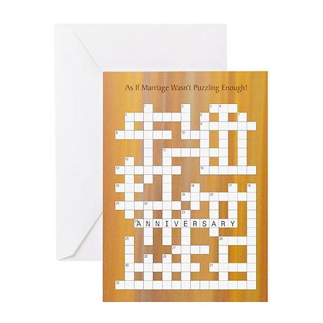 Crossword - Anniversary Card