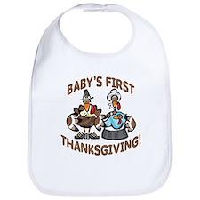 BABY BOY'S FIRST THANKSGIVING Bib