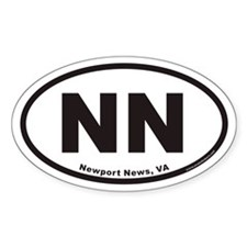 Newport News NN Euro Oval Decal