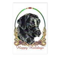 Black Lab Labrador Holiday Postcards (Package of 8