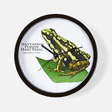 Phantasmal Poison Dart Frog Wall Clock