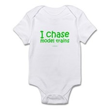 I Chase Model Trains Infant Bodysuit