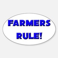Farmers Rule! Oval Decal