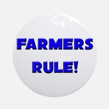 Farmers Rule! Ornament (Round)