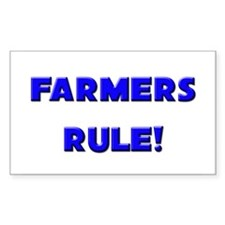 Farmers Rule! Rectangle Decal
