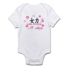 Girl Power with Trendy Circles Infant Creeper