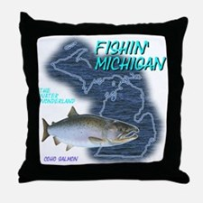 Funny Lake michigan Throw Pillow
