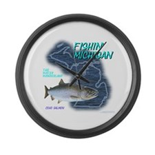 Funny Boating lake Large Wall Clock