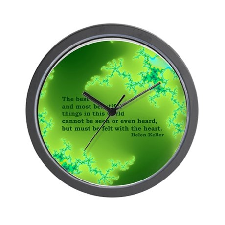 Quote-005 Feel With The Heart Wall Clock